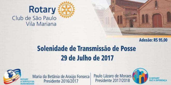 Transmissão e Posse – Rotary Club de São Paulo-Vila Mariana
